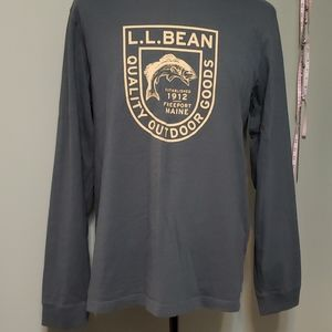 Men's LL Bean long sleeve logo t-shirt